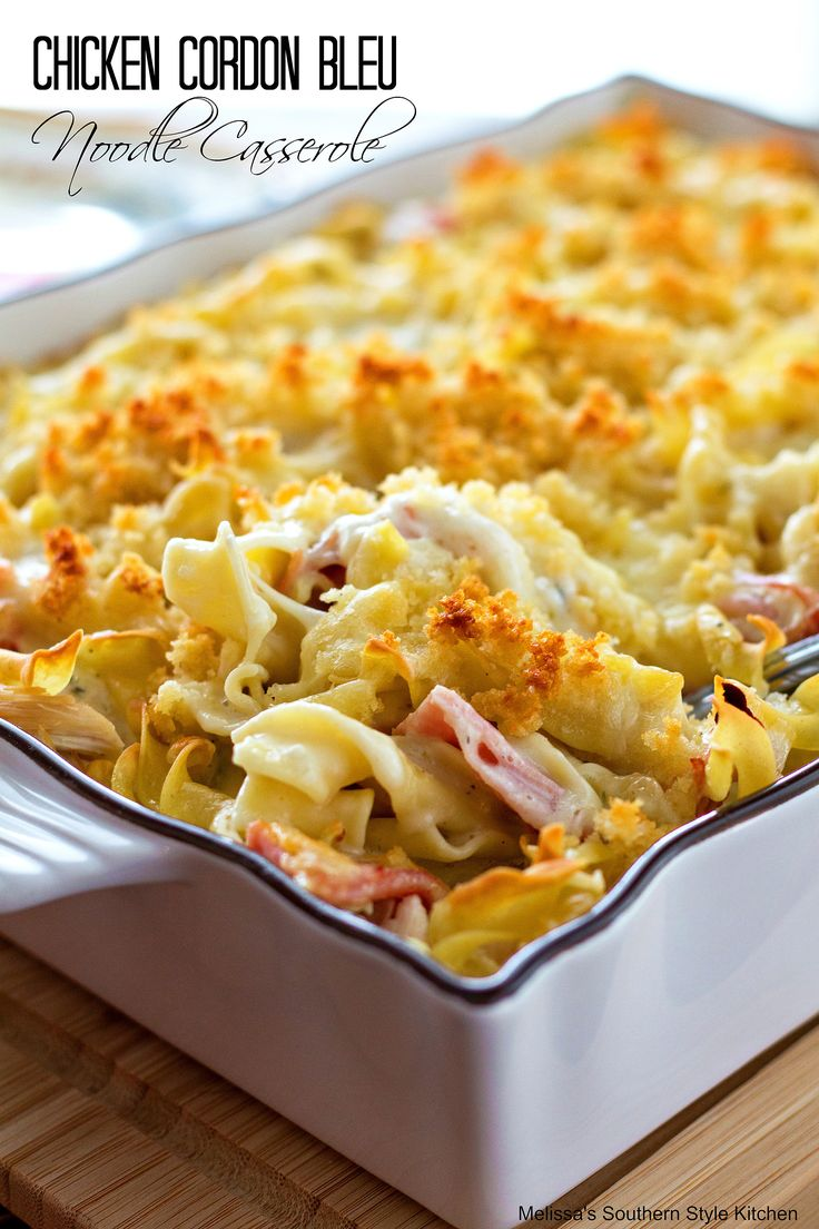 This amazingly delicious chicken cordon bleu noodle casserole is simple to make, scrumptious and simple enough for week day meal. Layers of egg noodles, chicken and smoked ham are smothered in a creamy sauce that's so decadent no one will believe you whipped it up in your blender. I love chicken cordon bleu it's one …