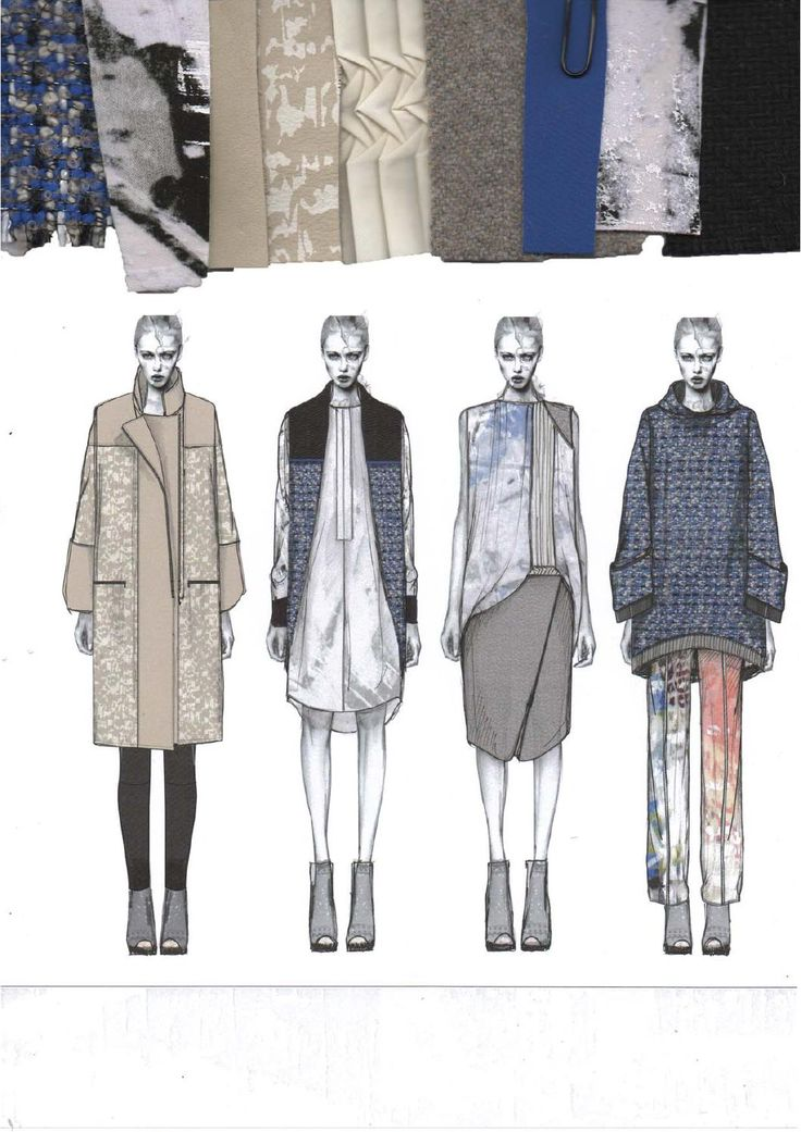 Nice Illustration and fabric layout //ISSUU - WESTMINSTERFASHION Amy Dee portfolio by WESTMINSTERFASHION