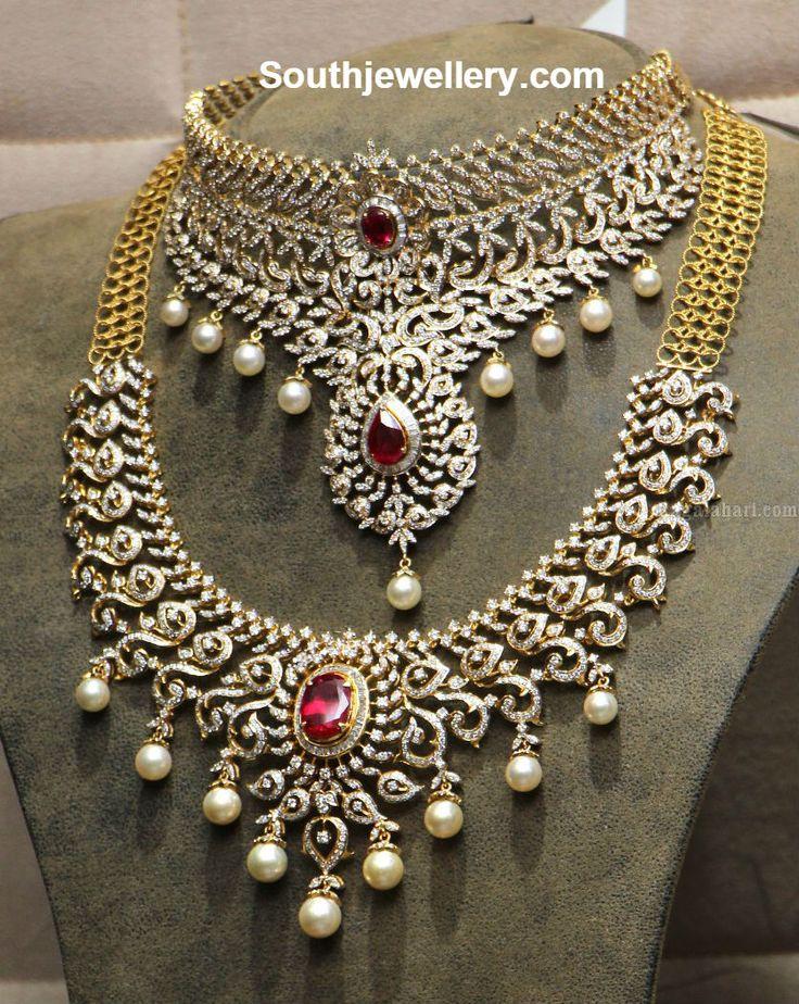 Latest Model Diamond Choker and Necklace