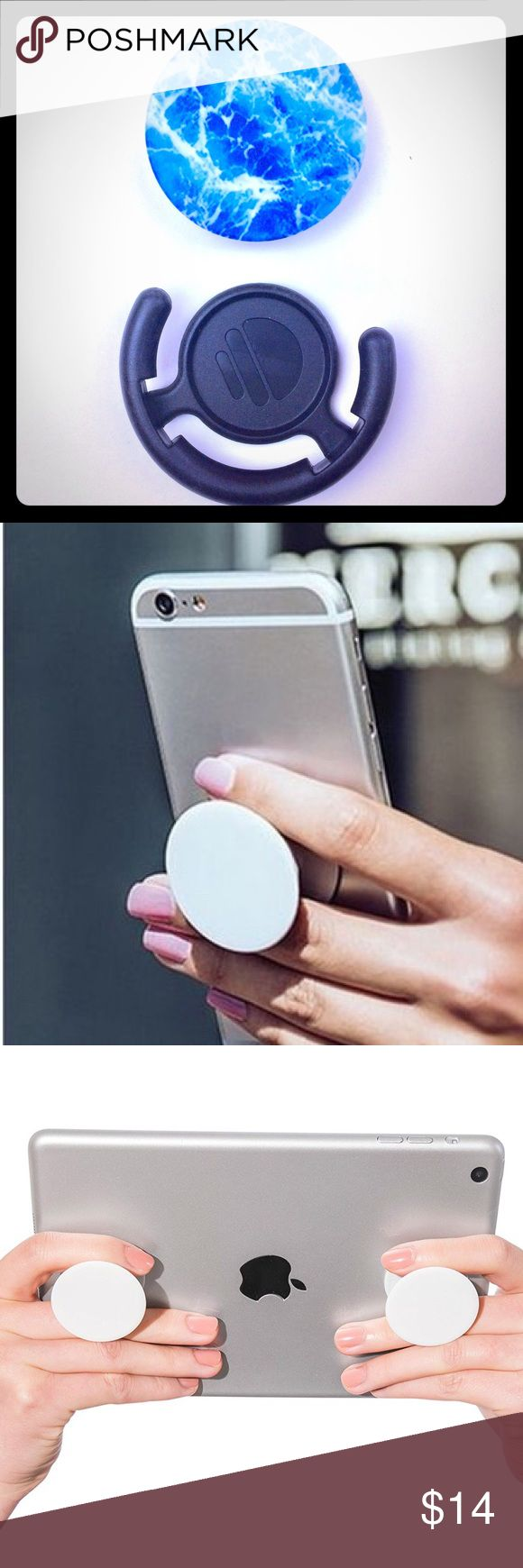 PopSocket Better holding for your phone/tablet, or mount it on your car dash, at home or at work. You will get a mount for free when you purchase a pop socket. Accessories
