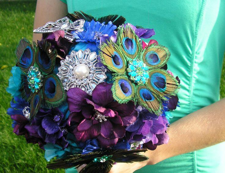 Peacock Wedding Bouquet By DoIHearWeddingBells On Etsy 24900