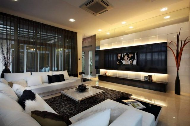 35 Exciting Modern Living Room Design With Fireplaces Modern Family Rooms Living Room Design Modern Family Room Design