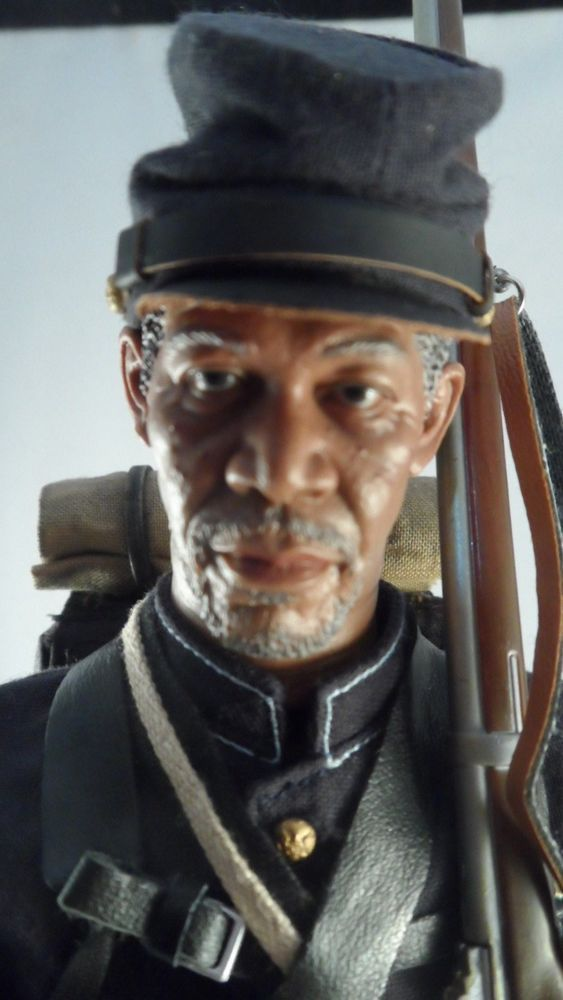 1/6 Scale Morgan Freeman 54th Mass. Movie Glory Custom Civil War Figure   | eBay