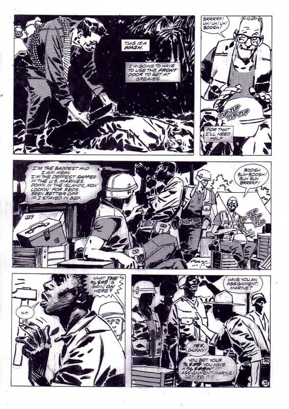 Jorge Zaffino Punisher Kingdom Gone page 35, in JerryLando's JORGE ZAFFINO Comic Art Gallery Room