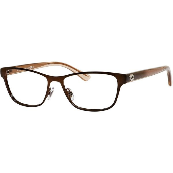 Gucci Ombre Rectangle Fashion Glasses (23.080 RUB) ❤ liked on Polyvore featuring accessories, eyewear, eyeglasses, glasses, brown, gucci, gucci eyeglasses, rectangular eyeglasses, rectangular glasses and clear eye glasses
