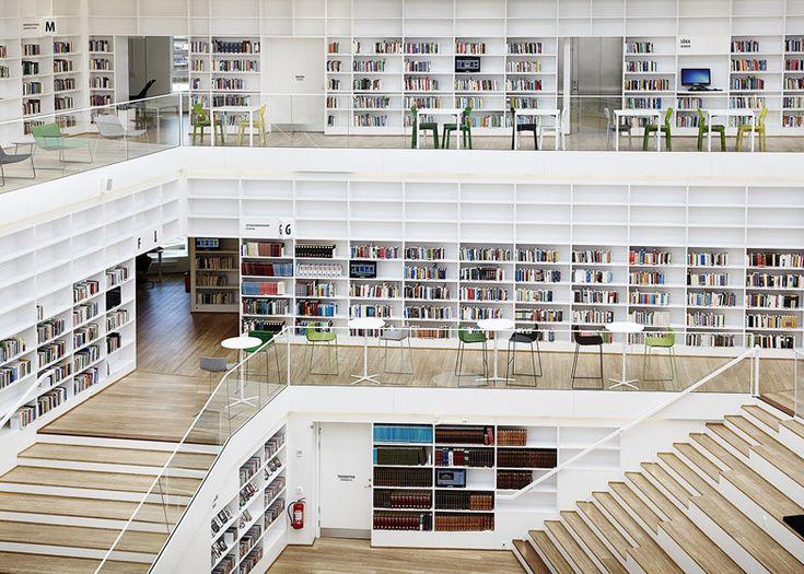 Inside World Festival of Interiors 2014 announces awards shortlist - Dalarna Media Library, Falun, Sweden by ADEPT.