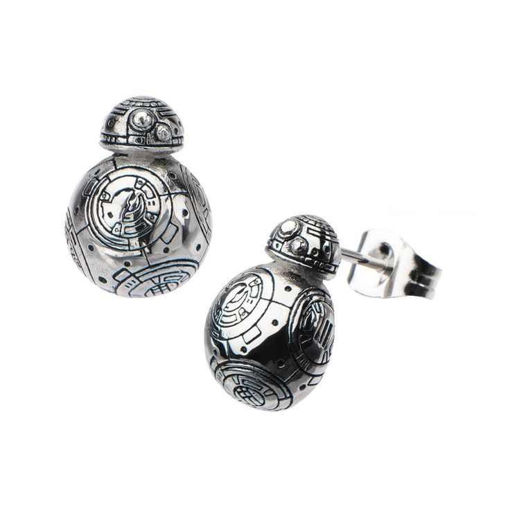 Star Wars: BB-8 Droid Polish 3D Stud Earrings 316 Stainless Steel