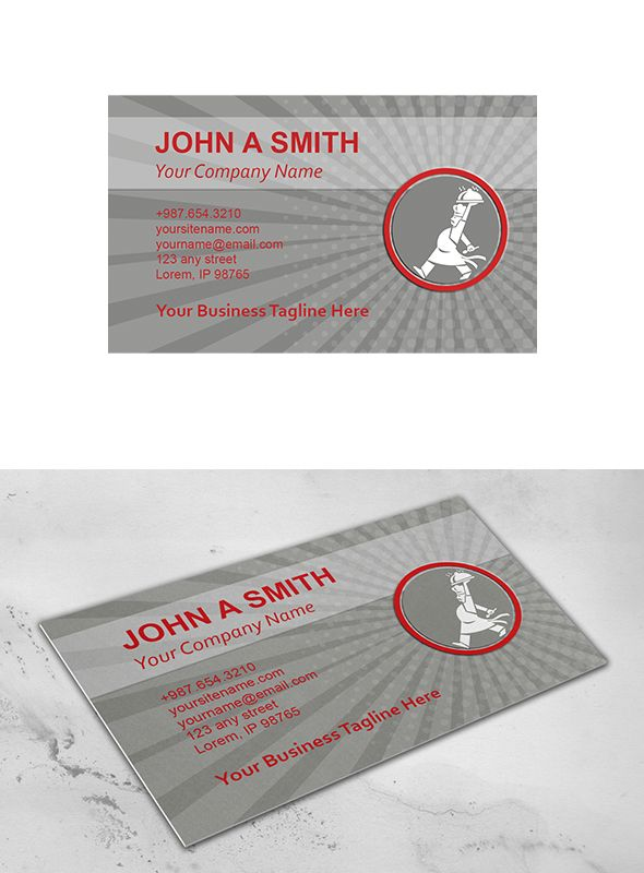 Business Card Template Chef Cook Ser