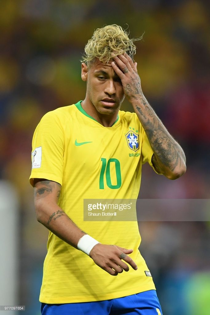 Neymar Jr Of Brazil Reacts During The 2018 Fifa World Cup Russia Group E Match Between Brazil And Switzerland At Rostov Arena O Neymar Jr Neymar Fifa World Cup