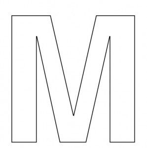 free letter m coloring pages for preschool - Letter M Coloring Pages