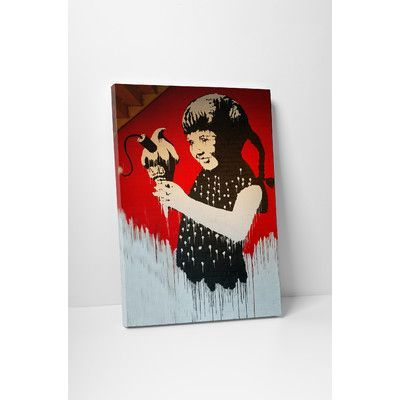"""PingoWorld """"Dynamite Ice Cream"""" by Banksy Painting Print on Wrapped Canvas Size: 45"""" H x 30"""" W x 1.25"""" D"""