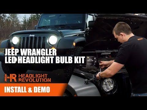 07 17 Jeep Wrangler Led Headlight Bulb Kit By Gtr Lighting