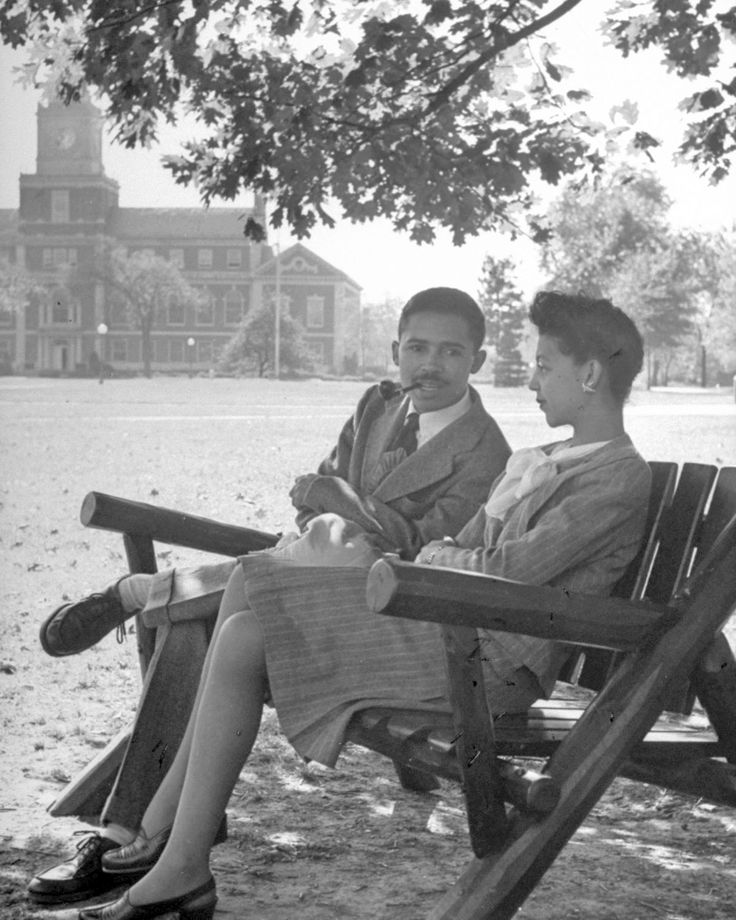 vintage portraits at historically black howard university in 1946