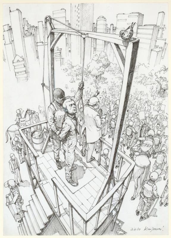 Kim Jung Gi - illustration originale réalisée un roman de Be