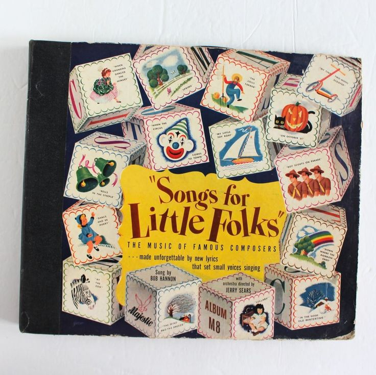 1940s Songs for Little Folks Bob Hannon Music Famous Composers 78 RPM Majestic