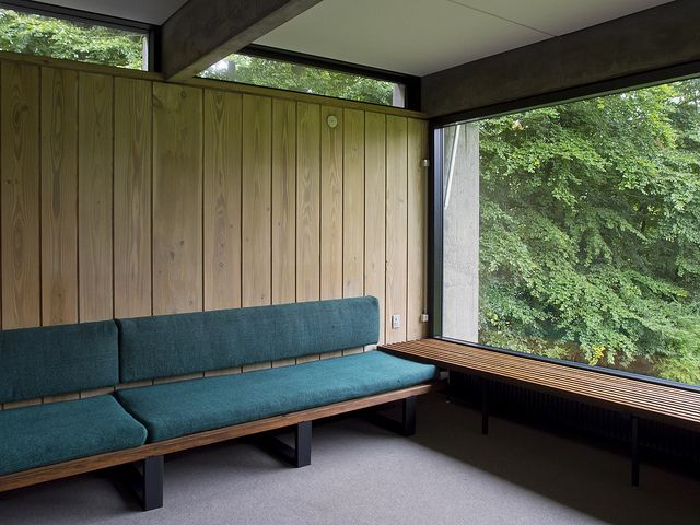 The newly restored 1958 home of architect Knud Friis of Friis Moltke. Brabrand #Aarhus #Denmark