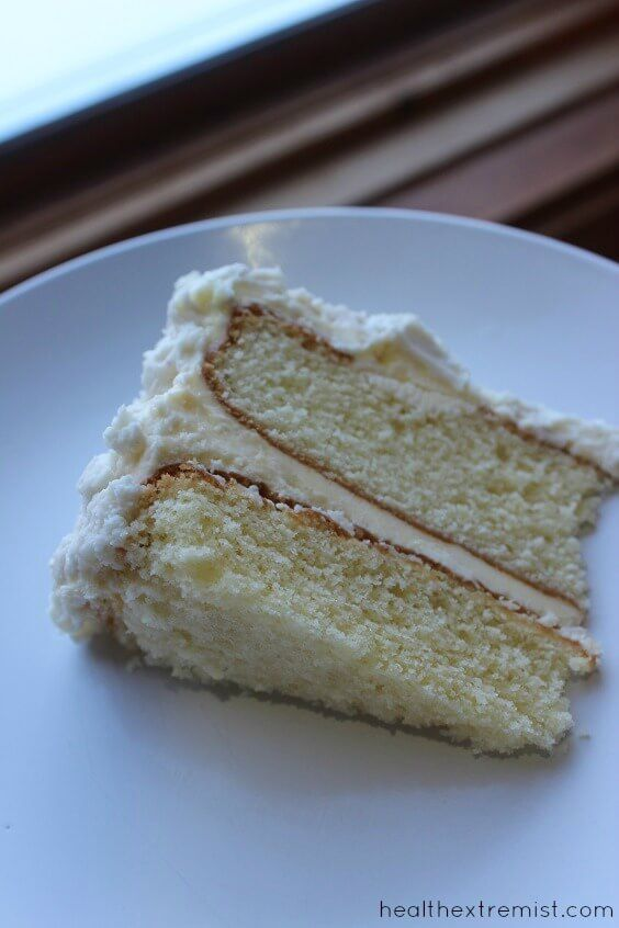 Paleo - Vanilla Coconut Flour Cake Recipe - This coconut flour cake recipe is paleo, grain free, gluten free, and dairy free
