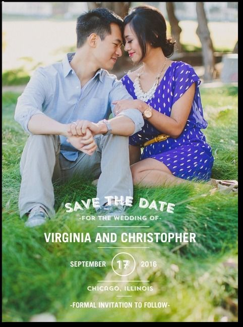 Save the Date - tasteful text