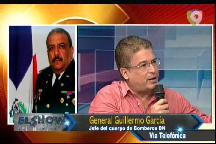 General Guillermo García Jefe Del Cuerpo De Bomberos DN, Revela De Talles De La Explosión En La Planta De Gas #Video