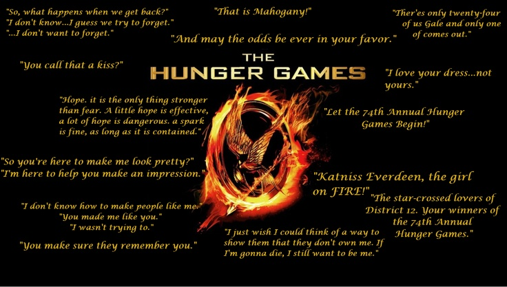 The Hunger Games Memorable Quotes Hunger Games