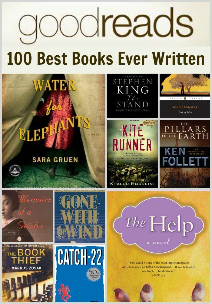 Good Reads 100 Best Books Ever Written. Because the list of books I need to read grows much faster than the rate I read one book.