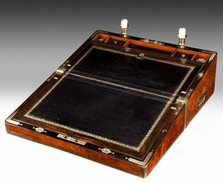 ANTIQUE WALNUT WRITING SLOPE Richard Gardner Antiques