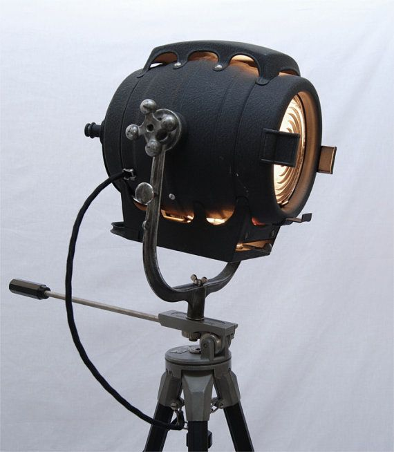 Sold 1940 S Vintage Theater Stage Light Spotlight By