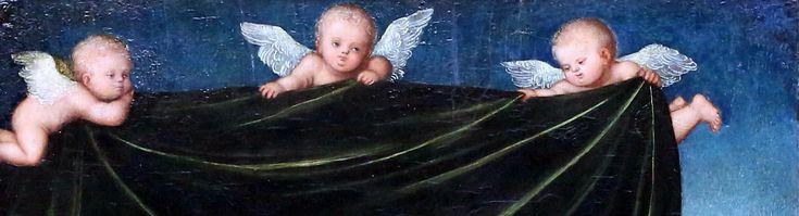 Lucas Cranach l'Ancien. 1472-1553 . Wittenberg et Weimar. Sainte Anne, Saint Jean Baptiste et la Vierge .1518. Berlin Gemäldegalerie.