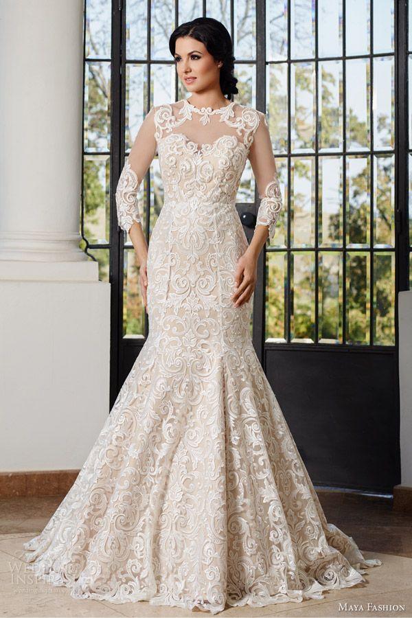 Maya Fashion 2015 #Wedding Dresses — Limited #Bridal Collection | Wedding Inspirasi #weddings #weddinggown #weddingdress