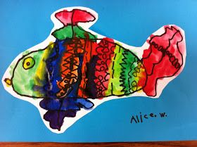 Fish - Permanent Marker and Watercolours