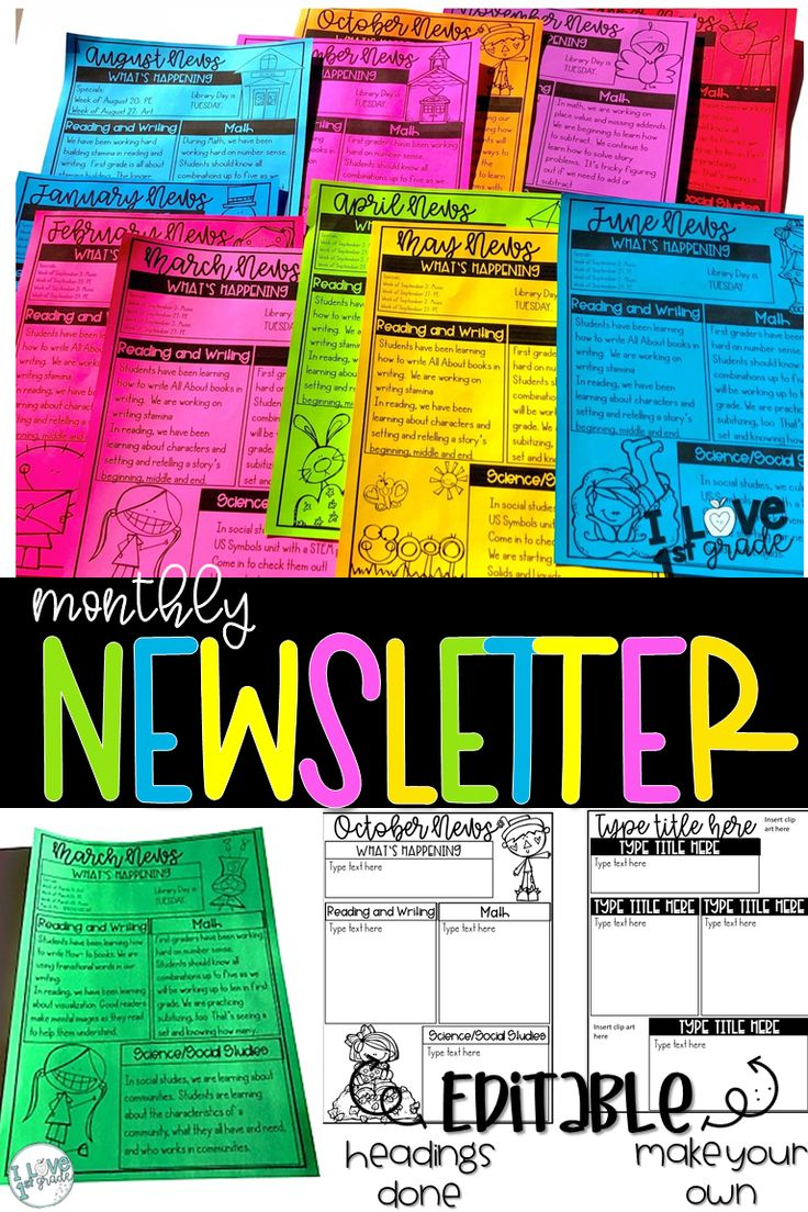 Newsletter Template Editable Monthly newsletter template