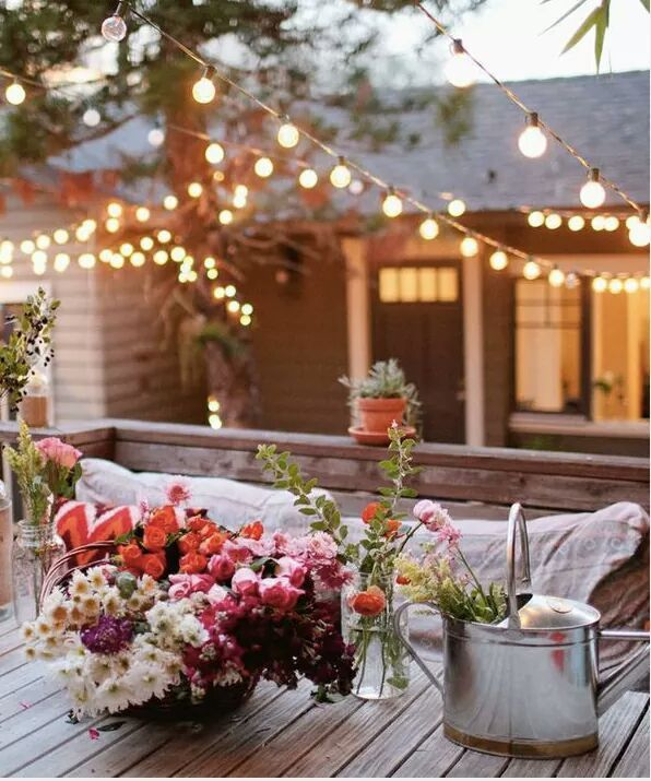 17 mejores ideas sobre luces de hadas de boda en pinterest - Luces patio exterior ...