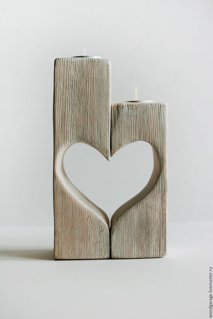 Literally Burning Love! | Wooden candle holders | Купить Подсвечник из дерева, сердце - подсвечник, подсвечник ручной работы, сердце, подарок девушке