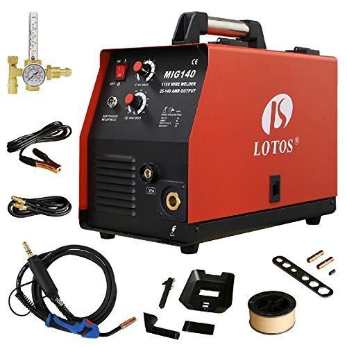 110 VAC 140 AMP Wire Welder Flux Core Welder MIG Welding Machine #KandN