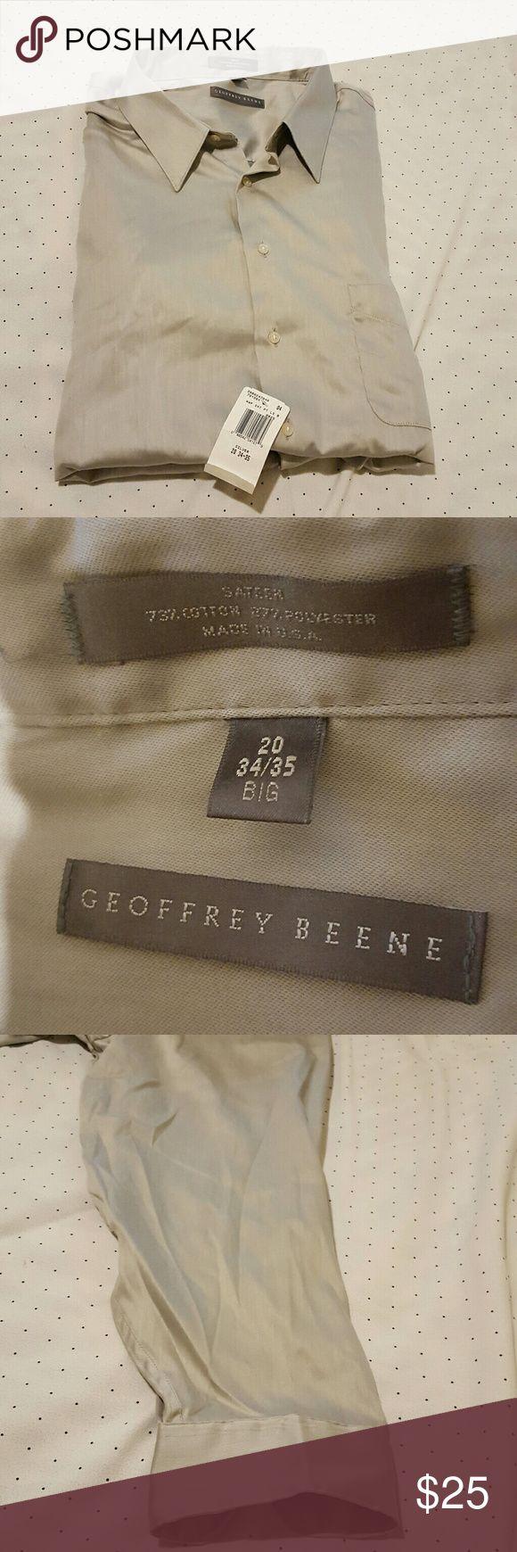 Geoffrey beene mens silver long sleeve . Geoffrey Beene Shirts Dress Shirts