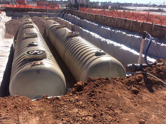 We recently began works for BP in Port Augusta. Gilbarco safely installed 4 x 110kl tanks last week in ground with a water table less than a metre from top of