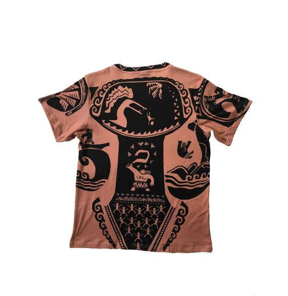 *PLEASE PLACE ORDERS BY SEPTEMBER 25TH FOR GUARANTEED HALLOWEEN DELIVERY*  Sublimation printed shirt inspired by Maui from the Disney film Moana! Great for a disneybound, halloween costume or everyday wear!  This design is printed using a sublimation printer, meaning the design is dyed into the fabric, making the design last longer than traditionally printed shirts.  Printed on a 90% cotton, 10% coolmax mens cut shirt in sizes XS-3XL.  **PLEASE CHECK SIZE CHART IN THIRD PHOTO FOR…