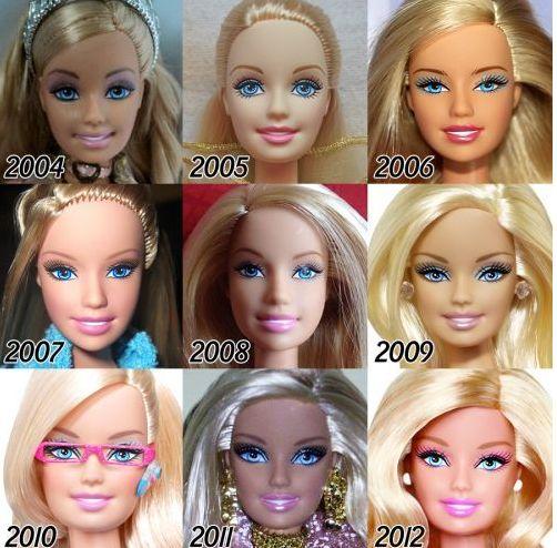 2004 a 2012: cabelo comprido, puxado para trás, e o sorriso cada vez mais aberto.