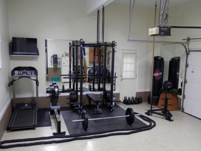 compact garage gym ideas - 25 best ideas about Small home gyms on Pinterest
