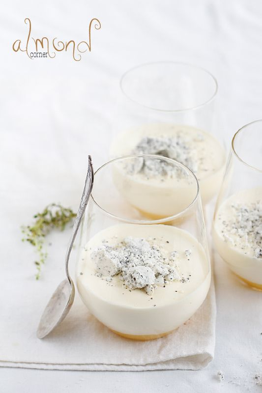 lemOn thyme mascarpone mousse lemon curd meringue