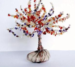 meijo's joy: Kids craft - beaded bongsai tree | OMG!!! Kiddo will LOVE hunting for rocks in the yard to do this one!