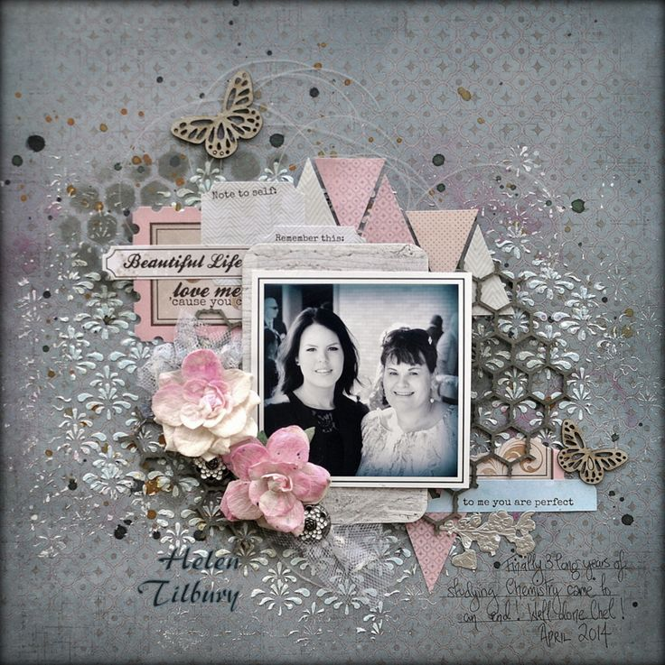 2Crafty Chipboard - Three New Layouts from Helen!