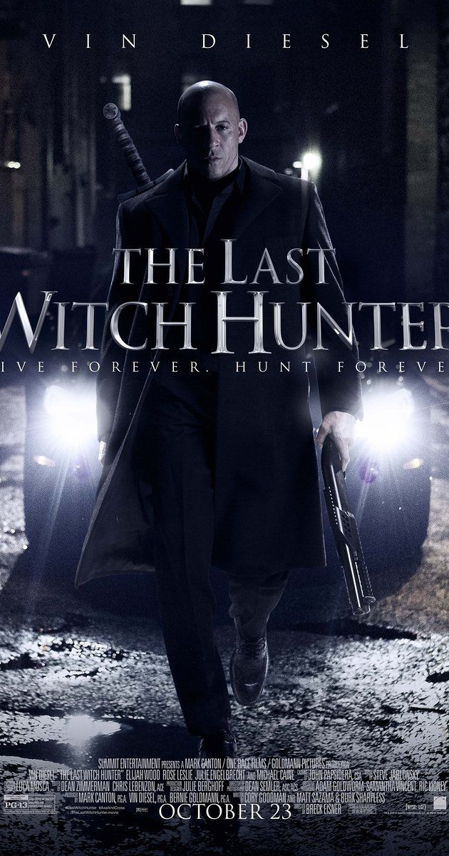 Directed by Breck Eisner.  With Vin Diesel, Rose Leslie, Elijah Wood, Ólafur Darri Ólafsson. The last witch hunter is all that stands between humanity and the combined forces of the most horrifying witches in history.