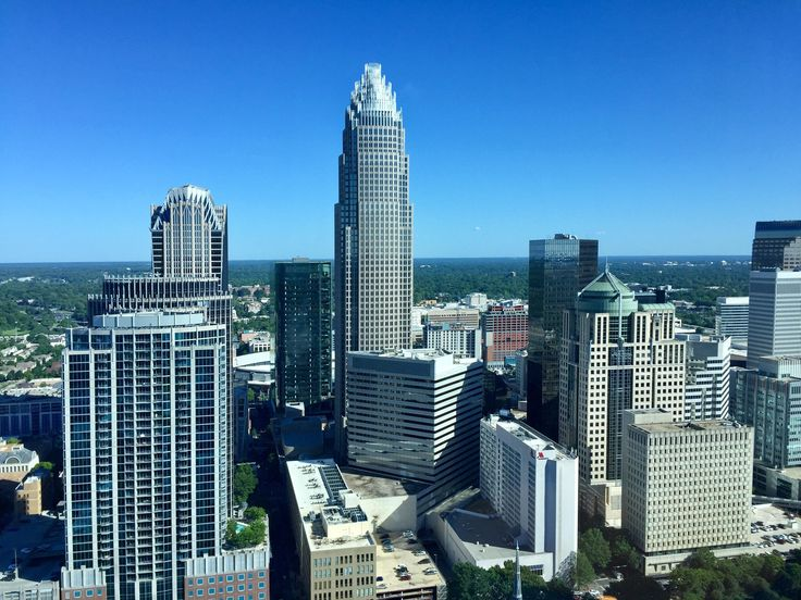 Downtown Charlotte NC from a high rise [3264 x 2448]