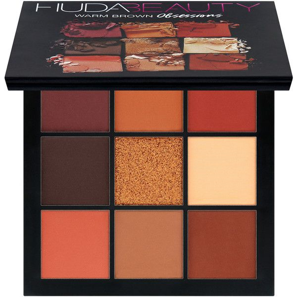 Obsessions Eyeshadow Palette Huda Beauty ($50) ❤ liked on Polyvore featuring beauty products, makeup, eye makeup, eyeshadow, beauty, filler, maquillaje, huda beauty eyeshadow and palette eyeshadow