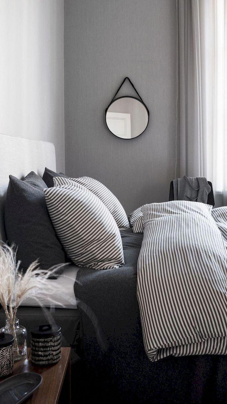 71 Zeitlose schwarz-weiße Schlafzimmer, die #diy durchsetzen können