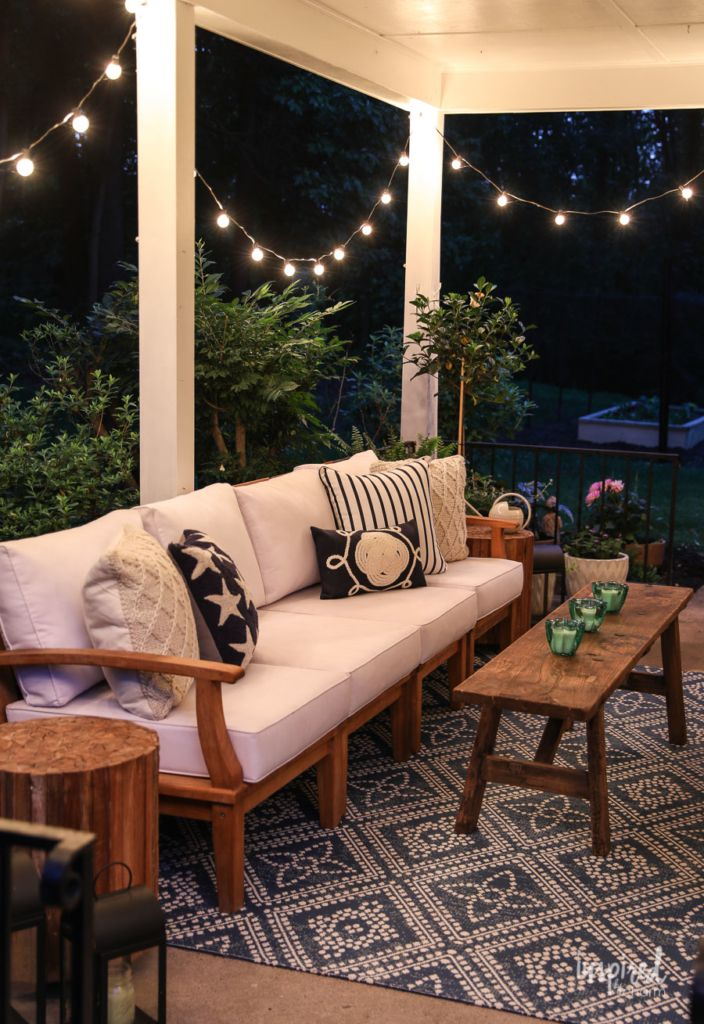 summer decorating porch and patio