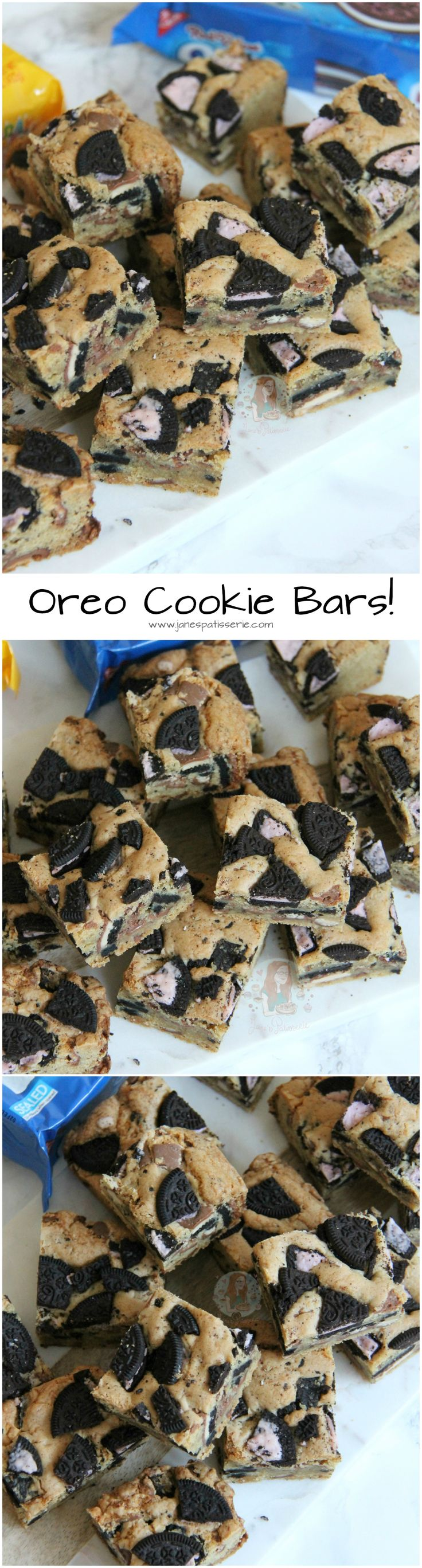 Oreo Cookie Bars! ❤️ Chocolate Oreo Cookie Traybake.. Seriously What Could Be Better than some Oreo Cookie Bars?