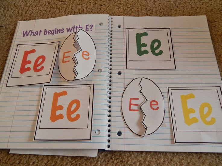 We finally got the chance to work with my Letter E Interactive Notebook. We are slightly behind in our letter learning but we are continuing...
