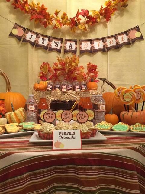 "Photo 9 of 16: Fall Baby Shower / Baby Shower/Sip & See ""Little Pumpkin Baby"" 